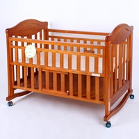 2015 best quality Wooden Wooden baby cot