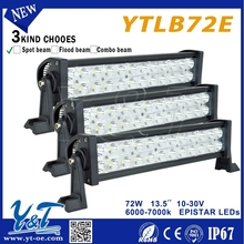 Y&T72w300m Range led driving lights round off road heavy duty, indoor, factory,suv military,agriculture,marine,mining