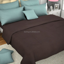 Solid Color Wholesale Cotton Bed Sheet with 2 Pillow Covers