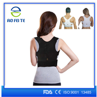 China suppliers heated corrective brace elastic support belt posture correction metal back brace for pain relief AFT-B001