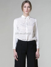 OEM Pierced women OL chiffon shirt