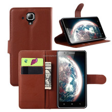 Factory Supply Litchi Wallet Case For Lenovo A536 flip leather case