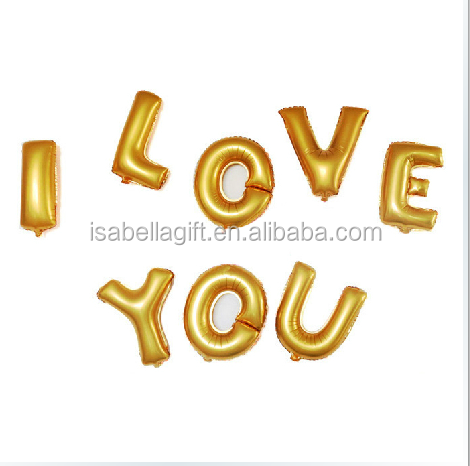 16inch gold inflatable letteralphabet letter foil With gold inflatable letters