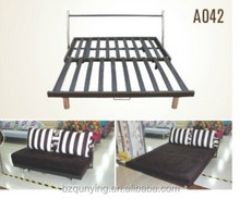 Adjustable pull out sofa bed mechanism
