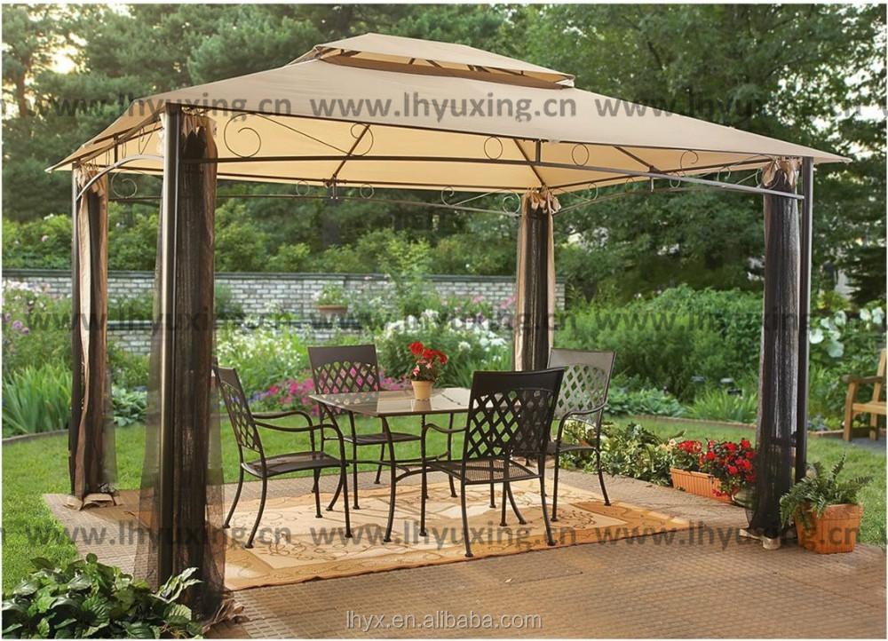 Garden Metal Gazebo : 10x12 Classic garden gazebo metal pavillion with mosquito netting