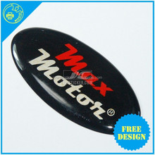 Clear flexible epoxy resin doming vinyl sticker