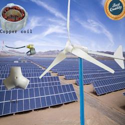 top sale 3000W roof wind turbine and solar panel hybrid