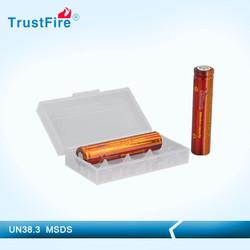 3.7v Li ion battery TrustFire imr AA e cig battery, 14650 rechargeable E-cig mode 500 cycle times deep cycle battery wholesale