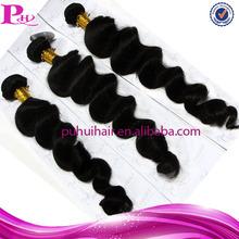 100% Virgin human hair,high quality brazilian Loose wave hair