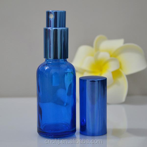 spray bottles 30ml blue glass bottles with spray caps for