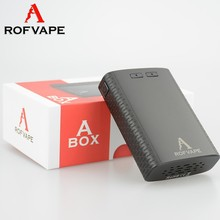 Manufacturing e cig samples A BOX mod with 7500 mAh 18650 battery from China