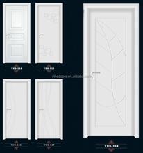 White paint solid wood door,Luxury Europe style wooden door , Fashional Wood Door for hotel bedroom
