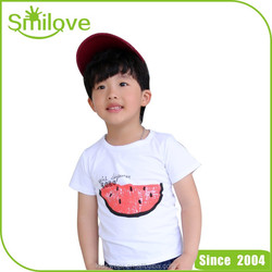 Casual style new arrival kids clothing suppliers China fabric cotton t-shirt children models