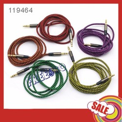 Factory price universality male to male 3.5mm to 3.5mm Aux audio cable for car