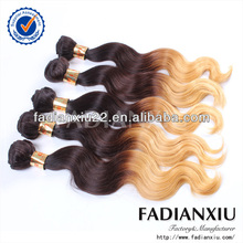 No chemical processed two tone hair/braid hair ombre hair extensions