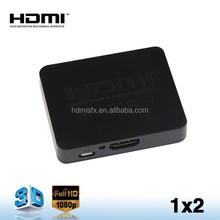 New HDMI 1.4 plastic box 4K Hdmi Splitter 1x2