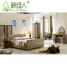 Simple Elegant Handicrafted Indonesia Natural Rattan Brisbane Stylish Design Home Hotel Baliness Bedroom Furniture Set Bali Bed
