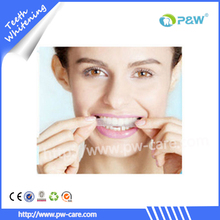 Non peroxide whitening strips for teeth white