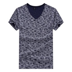 New Fashion Men Stylish Tees Plus Size L-3XL Male Cotton T-shirts Korea Design Slim Fit Man Casual Tops KN04003