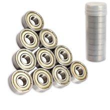 Hot sales 608ZZ Double Metal Shields Deep Groove Ball Bearings 8x22x7mm 10 Pcs for skateboard