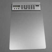 Customized clip board with calculator for office usage