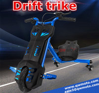 QWMOTO 2015 hot sale 100W 4.5A Baby Toys Sliding Tricycle 3 wheel Electric scooter Electric Drift trike for kids