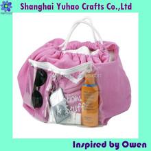 Custom water proof bathing bags silk velvet EVA lining