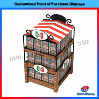 Custom design fashion new style shopping mall wooden food display case