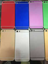 housing for iphone 5s look like 6 convert version battery cover multiple colors