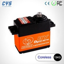 Hot selling DC 6V-7.4V CYS Digital Titanium Gear Servo 0.12s 13Kg 1:10 RC Car On Off Road with CE RoHs FCC