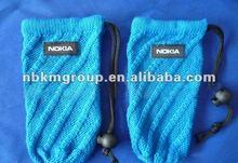 New design knitting mobile phone bag