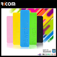 Multicolor New USB 5V 1A POWER BANK Suit 18650 BATTERY Mobile Power Supply portable charger--PB105 Shenzhen Ricom