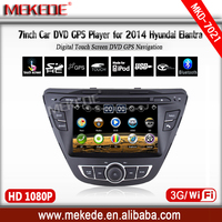 Hyundai Elantra 2014 car DVD player gps navigator hot selling Wince6.0 System
