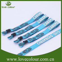 advertising nice brand print custom cloth slap wristbands
