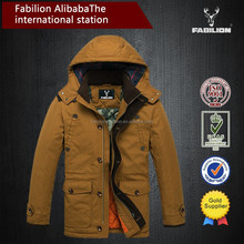 korean style hooded winter coat for mens down jackets