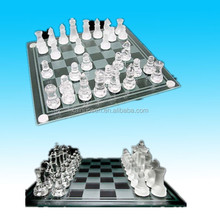 hot sale 3d personalized crystal chess set
