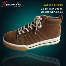 Oil water resistant S1P men's sport shoes with steel toe