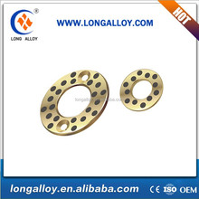 High-tech Longalloy Oilfree copper washer bush bearing with solid Graphite