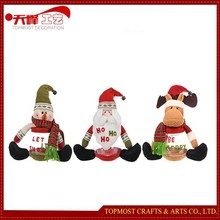 Christmas gift item Santa Claus /snowman/deer small bell Christmas tree decoration