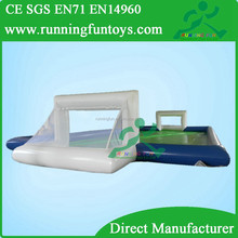 Air sealed inflatable water soccer court, soap water football court, inflatable soccer yard with water