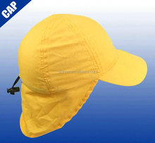 65% polyester 35% cotton UV 50+ protection promotional flap kids cap