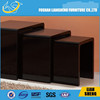 Adjustable end table , black high gloss tulip table , hand carved table