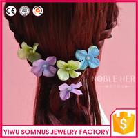 Factory wholesale fabric sakura hair pins flower hairpins