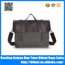 Hot design 2015 retro vintage leather men canvas sling bags,canvas leather bag,shoulder bags for men
