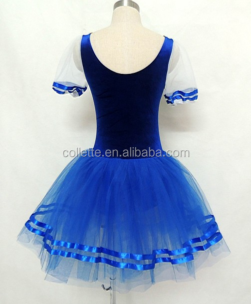 blue cute lycra leotard Tiered Petal Children Girls Costume Party Dresses & Mb3080 !! Child Ballerina Giselle Velvet Leotard Ballet Fluffy Tutu ...