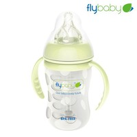 Flybaby new green empty glass baby bottle wholesale