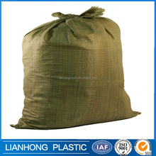 Competitive price bag/sack pp woven,green anti uv pp bag for packing waste garbage,pp woven bag/sack for 25kg 50kg rice packing