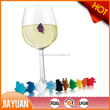 New design silicone wine glass charms