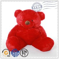 Valentines teddy bears plush toys wholesale, plush teddy bear with red bow