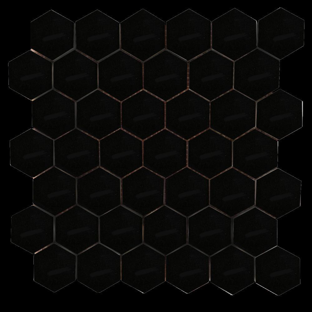 중국 슈퍼 육각 검은 색 대리석 모자이크 바닥 타일-모자이크 ...
